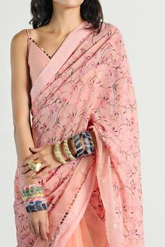 Floral Print Saree with Blouse
