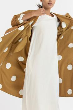 Midi Dress with Reversible Jacket & Scarf