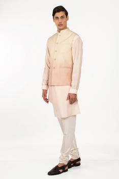 Silk Quilted Nehru Jacket