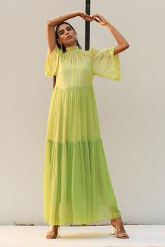 Colorblock Tiered Dress with Inner