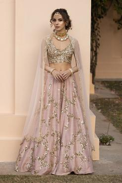 Embellished Silk Lehenga Set