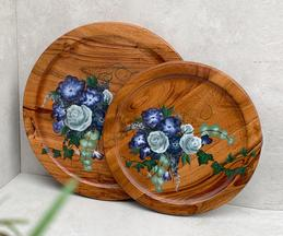 Rose Hand Painted Wall Plate (Single Pc)