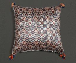 Ajrakh Mysore Silk Cushion Cover with Filler