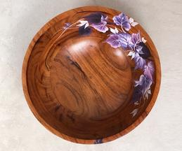 Ivy Hand Painted Fruit Bowl