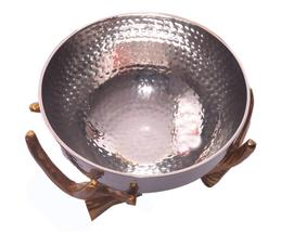 Hammered Bowl with Twig Stand