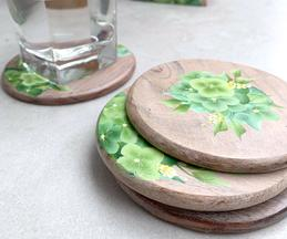 Hydrangea Hand Painted Coaster (Set of 6)