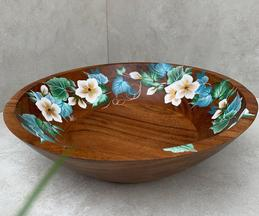 Magnolia Hand Painted Fruit Bowl