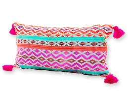 Handmade Tassel Embroidered Cushion Cover (Single Pc)