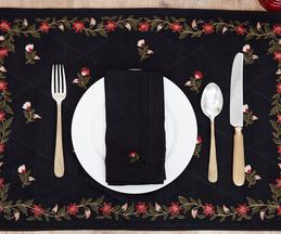 Silk Embroidered Table Mat (Set of 2)