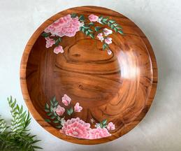 Peony Hand Painted Fruit Bowl