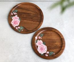 Peony Hand Painted Circle Platter (Single Pc)