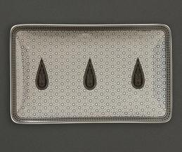 Awadh Porcelain Rectangular Platter (Single Pc)