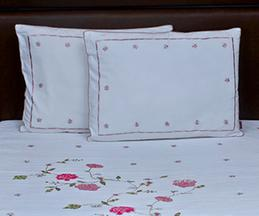 Pure Cotton Quilted Embroidered Bedspread & Pillows Set