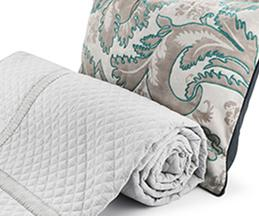 Quilted Embroidered Bedspread & Pillows