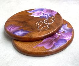 Ivy Hand Painted Coaster (Set of 6)