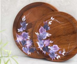 Ivy Hand Painted Round Platter (Single Pc)