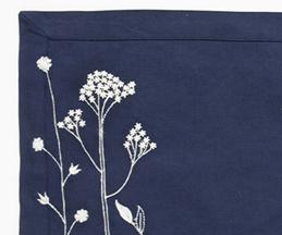 Linen Embroidered Table Mat (Set of 6)