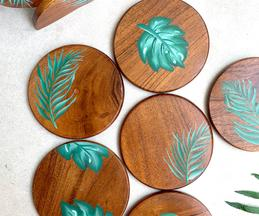 Tropical Hand Painted Coaster (Set of 6)