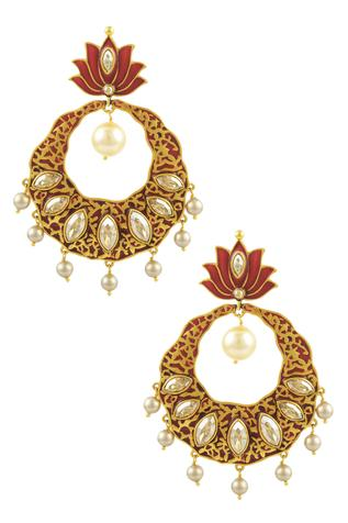 Nida Mahmood Lotus Earrings