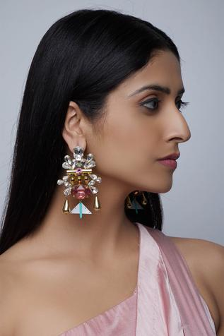 Structured stone earrings