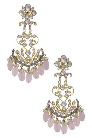 Kundan Chandelier Drop Earrings