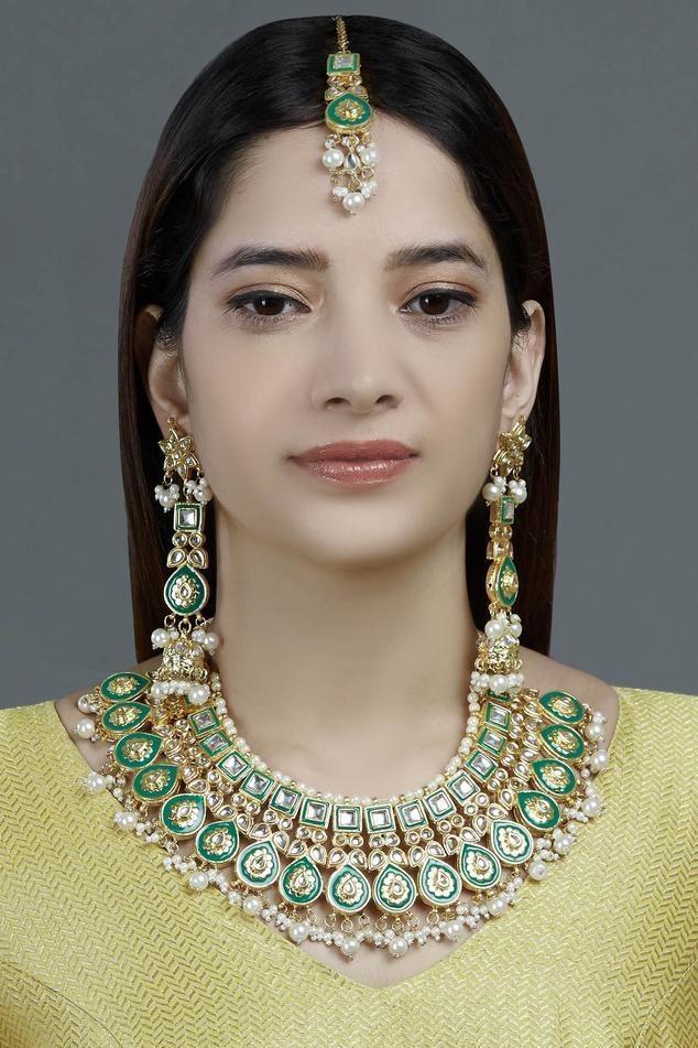 Moh-Maya by Disha Khatri Meenakari Jewellery Set