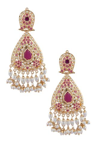 Stone Earrings with Passa