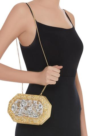 Crystal Embellished Clutch cum sling