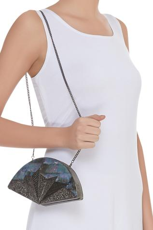 Abstract Metal Clutch cum sling