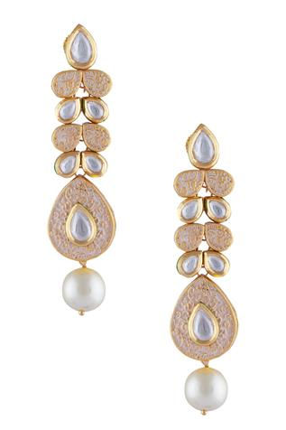 Meenakari drop danglers