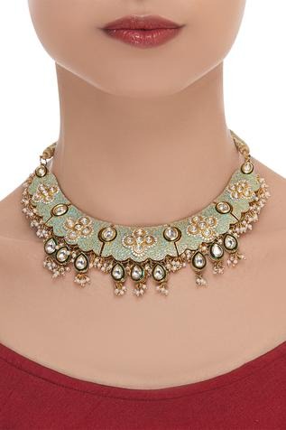 Meenakari adjustable choker