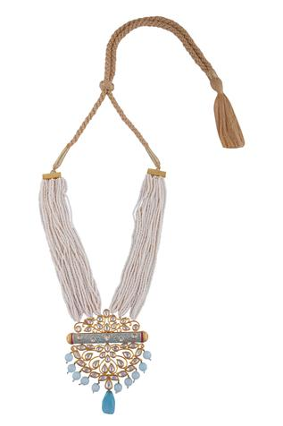 Bead meenakari necklace