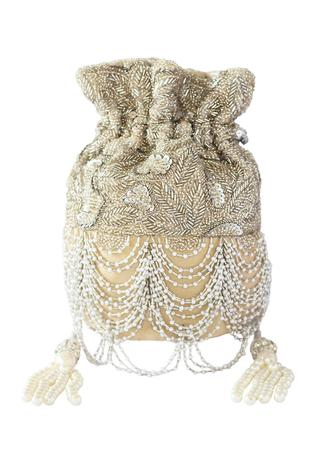 Scallop Fringed Sling Potli Bag