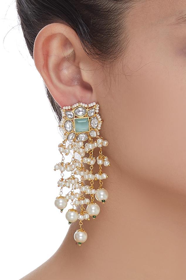 Pearl Chain Dangler Earrings