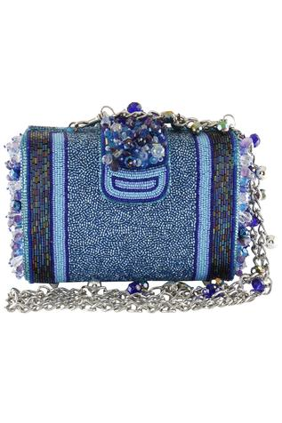 Bead Embroidered Clutch Cum Sling bag