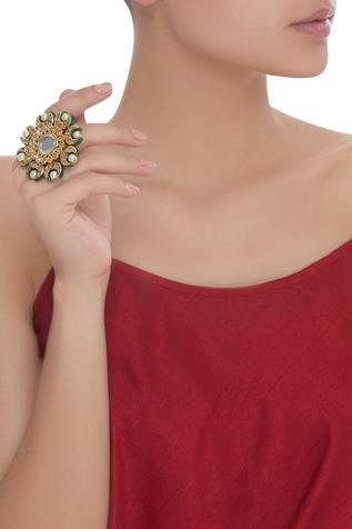 Meenakari Oversized Cocktail Ring