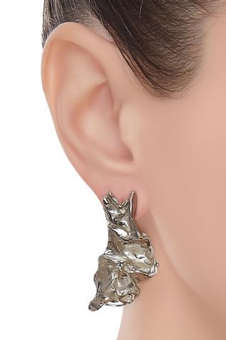 Handcrafted crushed earrings
