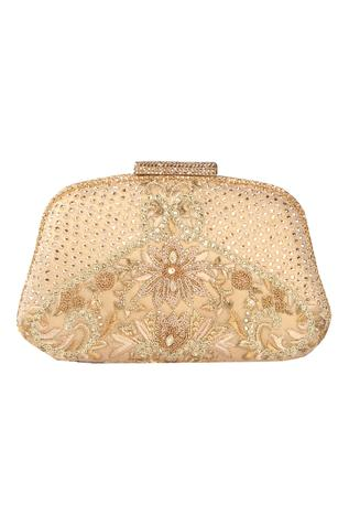 Crystal embroidered clutch