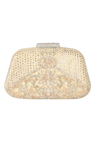 French knot embroidered clutch