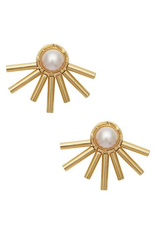 Sunrays motif studs
