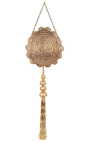 Carved Tassel Detail Clutch