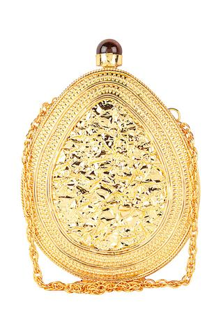 Oval Shaped Embellished Clutch