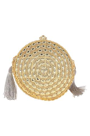 Oval Tassel Detail Clutch