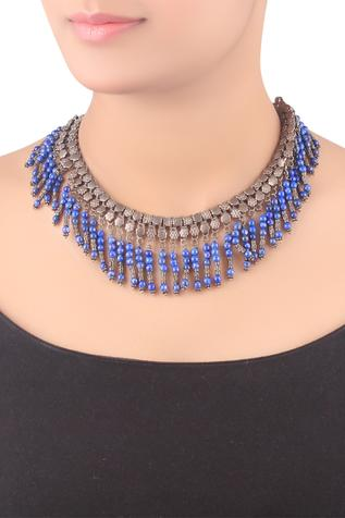 Bead fringe necklace