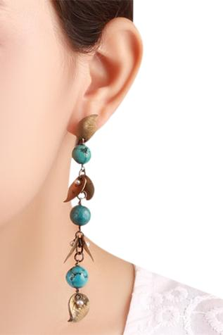 Handcrafted bead earrings