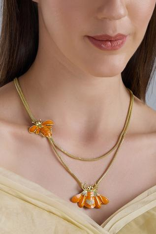 Insect Motif Pendant Necklce