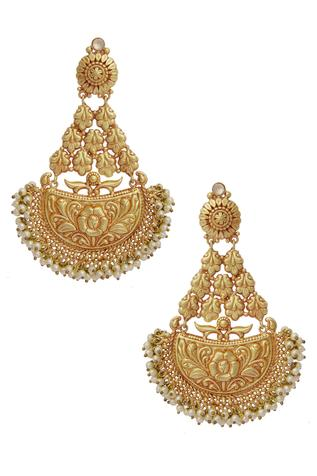 Carved Temple Earrings