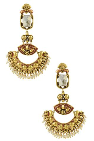 Nida Mahmood Chandbali Earrings