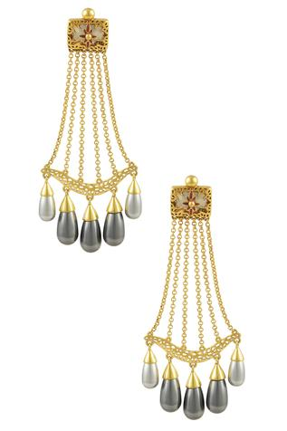 Nida Mahmood Stone Earrings