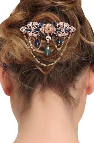 Gold Plated Crystal Hair Clip
